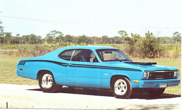 1973 plymouth duster 340 blue