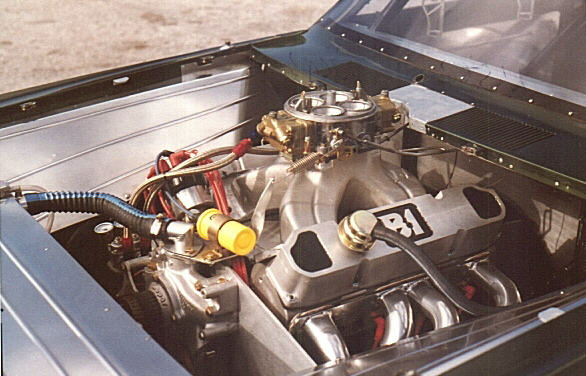 pro street plymouth duster engine bay