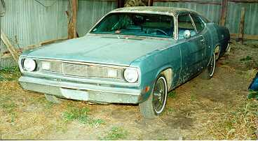 1971 slant six plymouth duster project before
